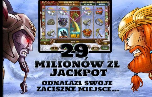 29 milionów zł jackpot hall of gods trafiony